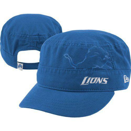 d72bde35 NFL Detroit Lions Goal-2-Go Women's Military Cap, Blue, One Size ...