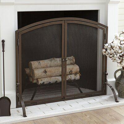 Charlton Home® Elmsley Single Panel Steel Fireplace Screens | Wayfair