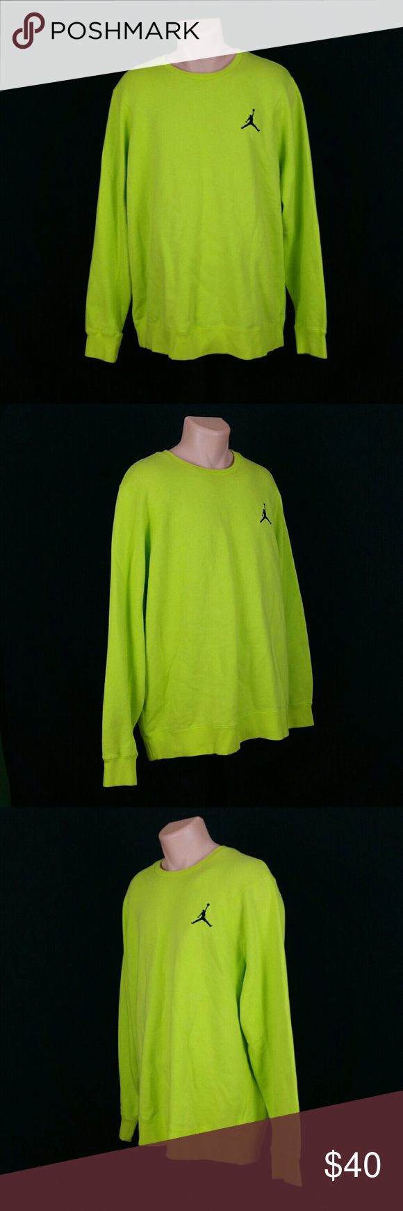 283a199164ef5e Air Jordan Men s Sweatshirt Lime Green Size XXL Great product as seen in  photos. 100% Authentic. Fast processing and shipping