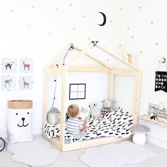 diy lit cabane oliyshoo lit inspiration montessori. Black Bedroom Furniture Sets. Home Design Ideas