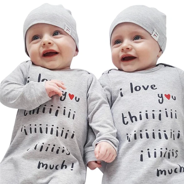 Fashion Baby Girls Boys Clothes Set for Newborn Overall Letter Print Long Sleeve Romper Hat Toddler Jumpsuit Infant Outfit Set #babygirlhairstyles