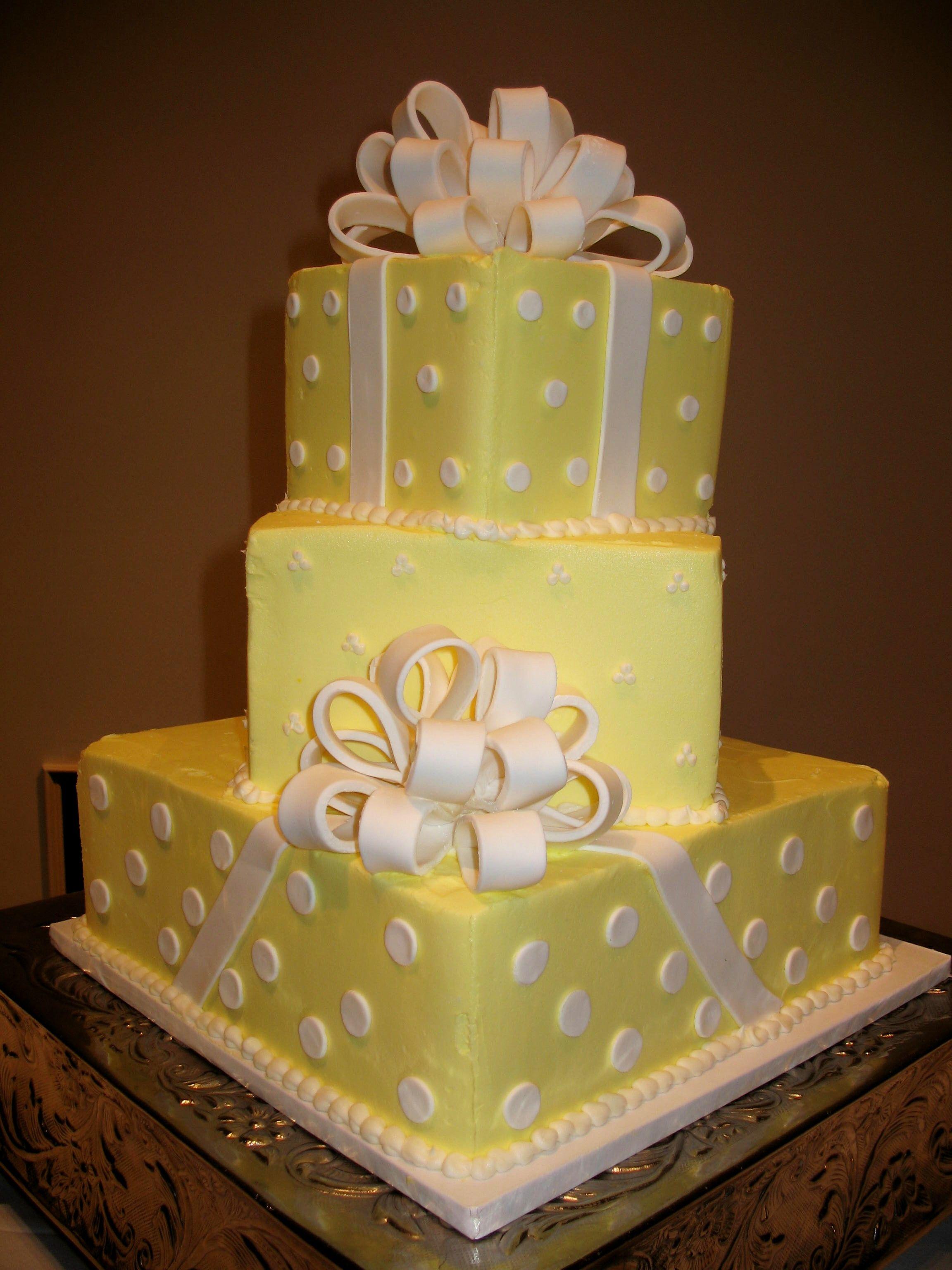 yellow and white wedding cake www.cheesecakeetc.biz wedding cakes ...