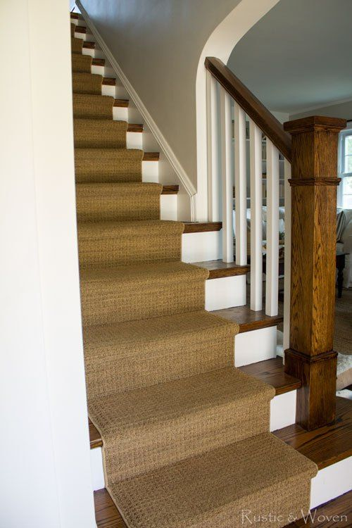 Best Dark Stained Wood Stairs With White Painted Risers And 400 x 300