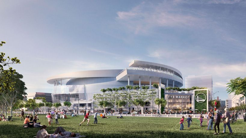 new scheme for warriors arena in san francisco by MANICA