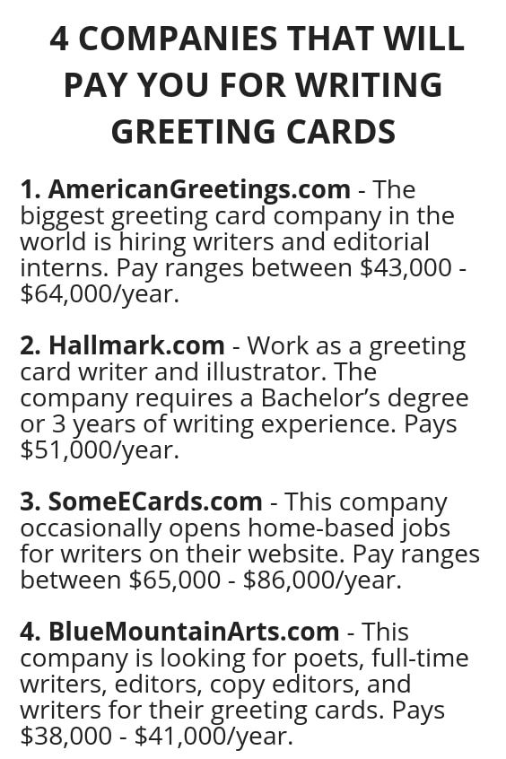 4 companies that will pay you for writing greeting cards