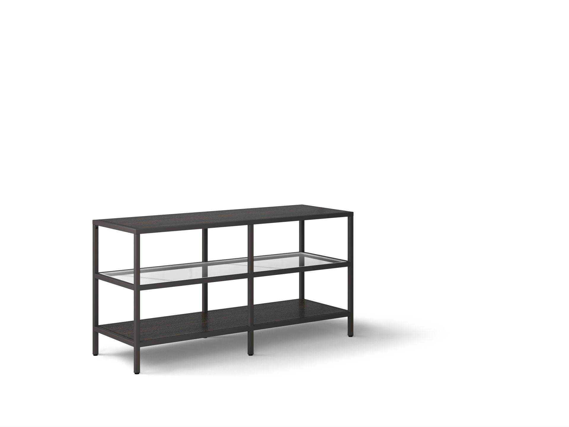 Glazen Tv Meubel Ikea.Vittsjo Tv Meubel Zwartbruin Glas Accessoires 100