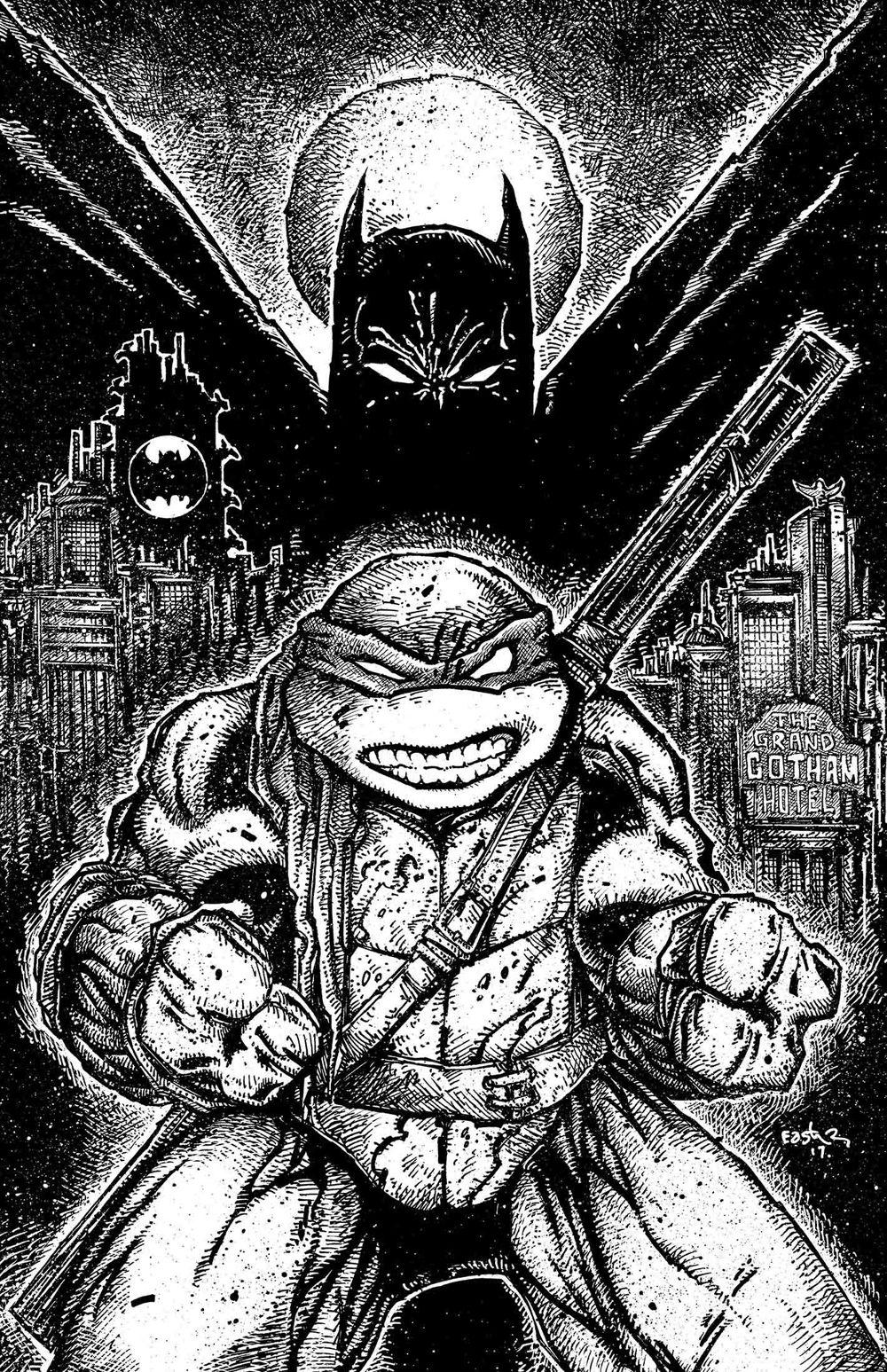 Batman Teenage Mutant Ninja Turtles Ii 2 By Kevin Eastman Ninja Turtles Teenage Mutant Ninja Turtles Art Ninja Turtles Art