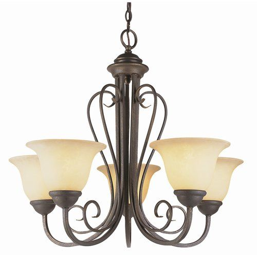 Found it at Wayfair - Blue Heron 5-Light Shaded Chandelier