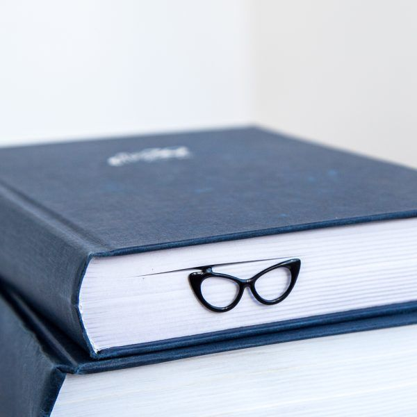 Bookmark Eye Cat Glasses. Stylish accessory for book lover. Gift for reader. Online store