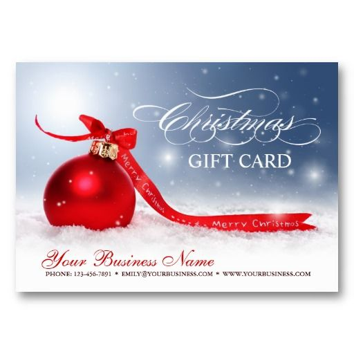 Blank Christmas Holiday Season Gift Certificate #Christmas