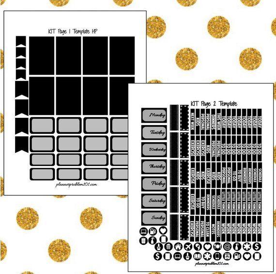 3dad31fe841dd DIY Planner Sticker Template! | Full Planner Sticker Editable Kit ...