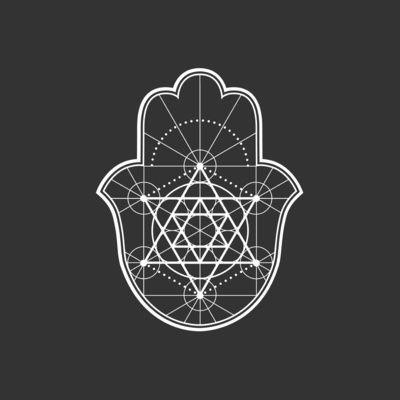 Sacred Geometry Hamsa Art Print By Megan Carty Society6 Hamsa Tattoo Design Hamsa Art Hamsa