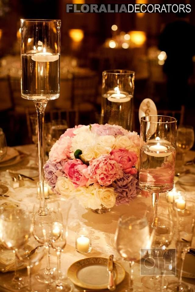 Wedding Decoration Ideas With Candle Centerpieces Floating