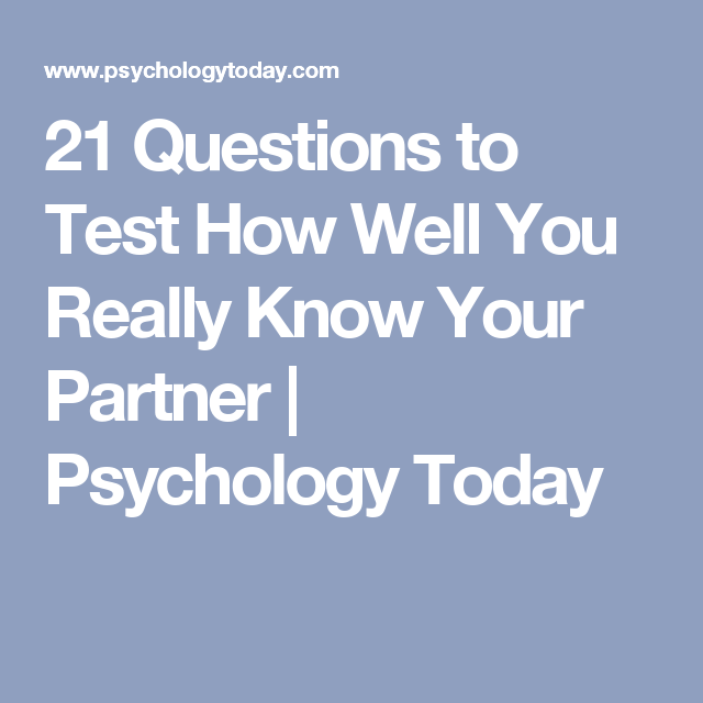 psychology today relationship test questions