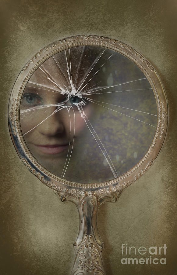 Face In Broken Mirror | We, Drawings and Pictures