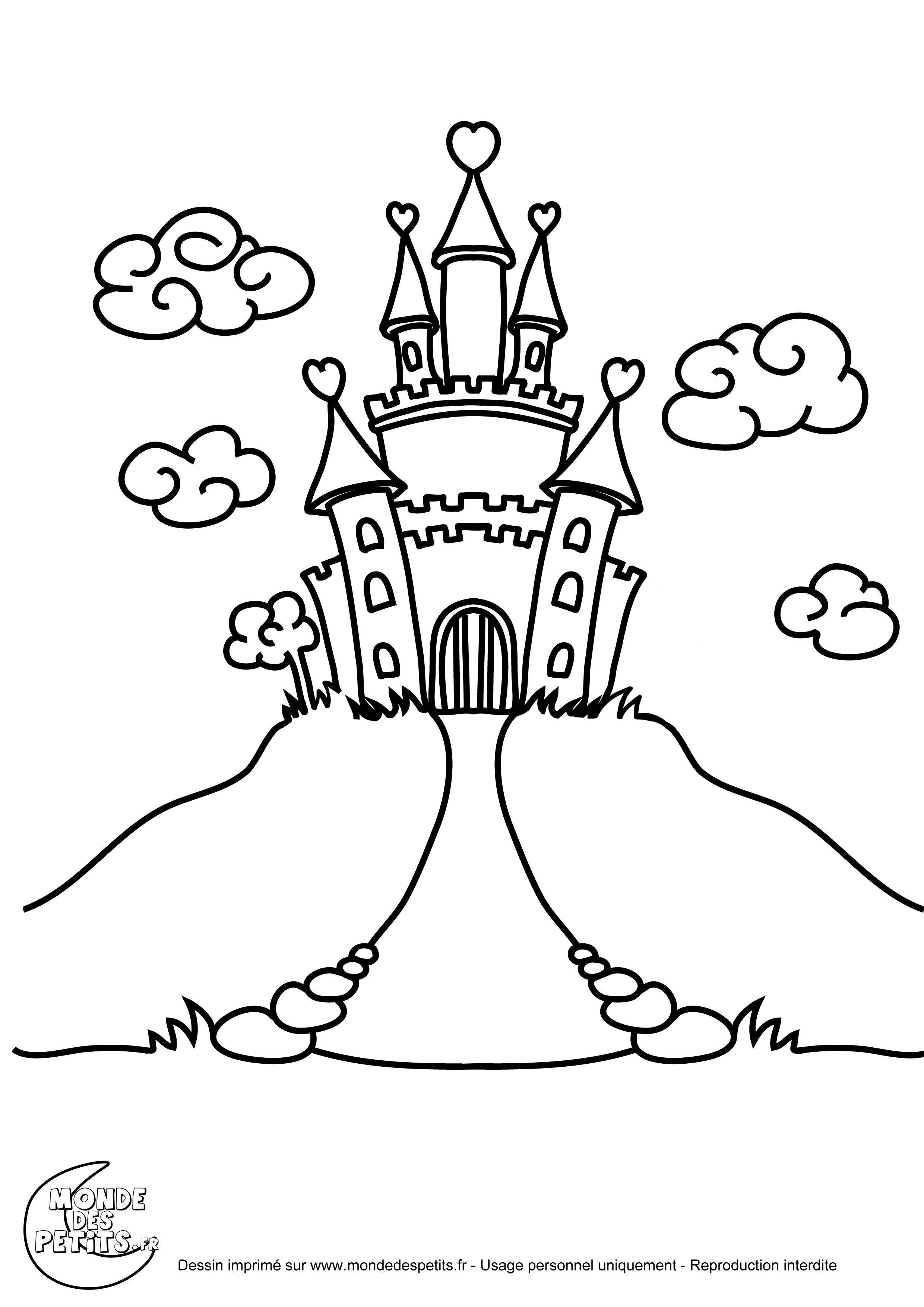 coloriage chateau princesse  Coloriage chateau, Coloriage