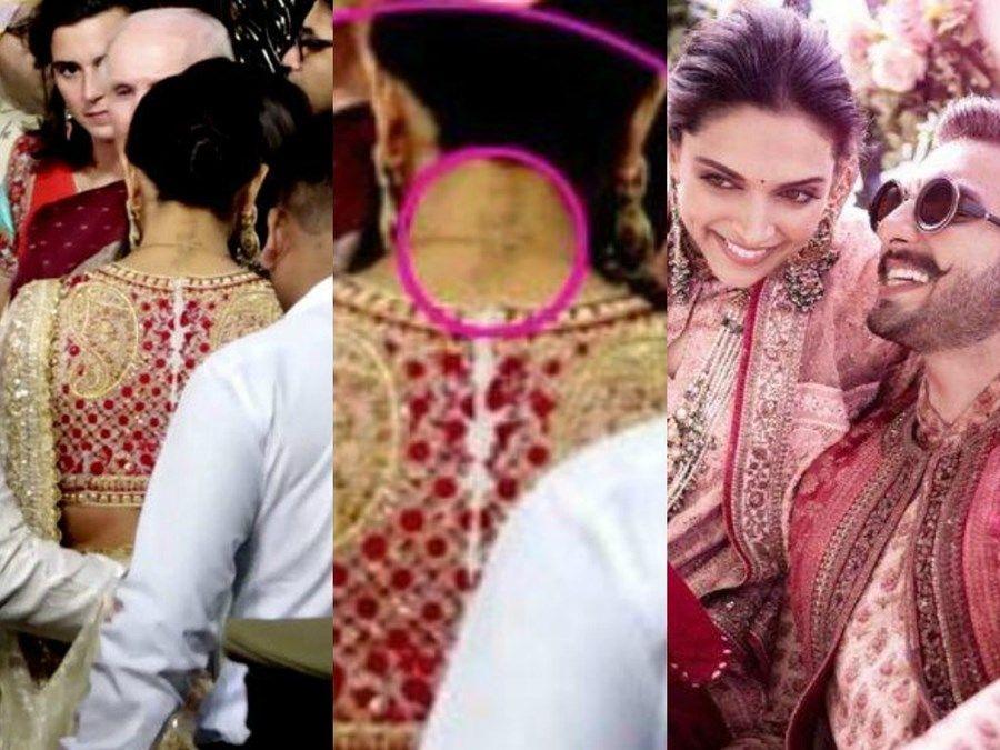 Deepika Padukone Rk Tattoo Reappears At Isha Ambani Wedding Deepika Padukone Style Stylish Sarees Indian Designer Outfits