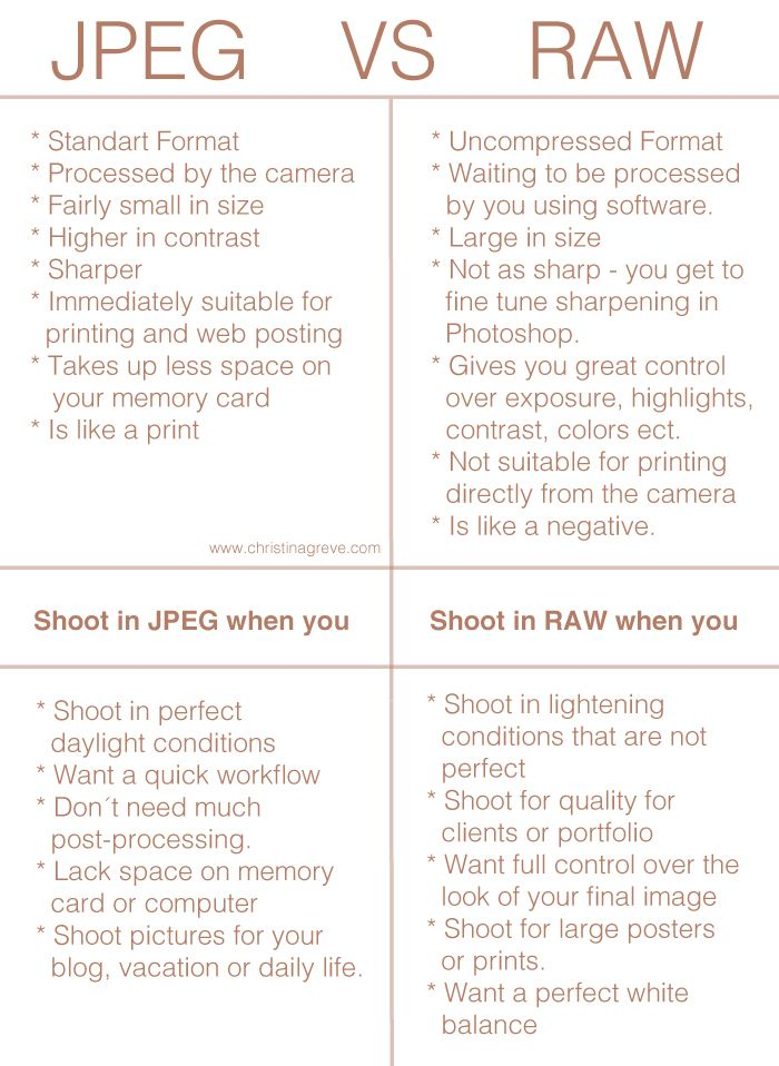From JPEG to RAW: A Beginners Guide to Start Shooting in ...
