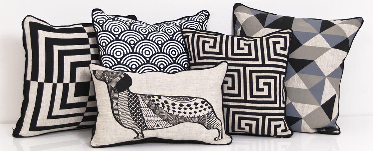 Modern Throw Pillows Mod Blog Bedding Set