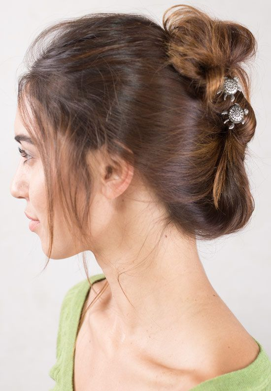 Beautiful easy hairstyle with turtles - Lilla Rose Inc - UP-3020-L Shelby Upins, Nickel, Long ...