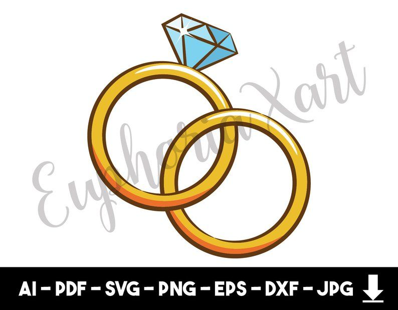 Wedding Ring Svg Wedding Ring Cricut Wedding Ring Clipart Etsy In 2020 Wedding Ring Clipart Clip Art Cricut