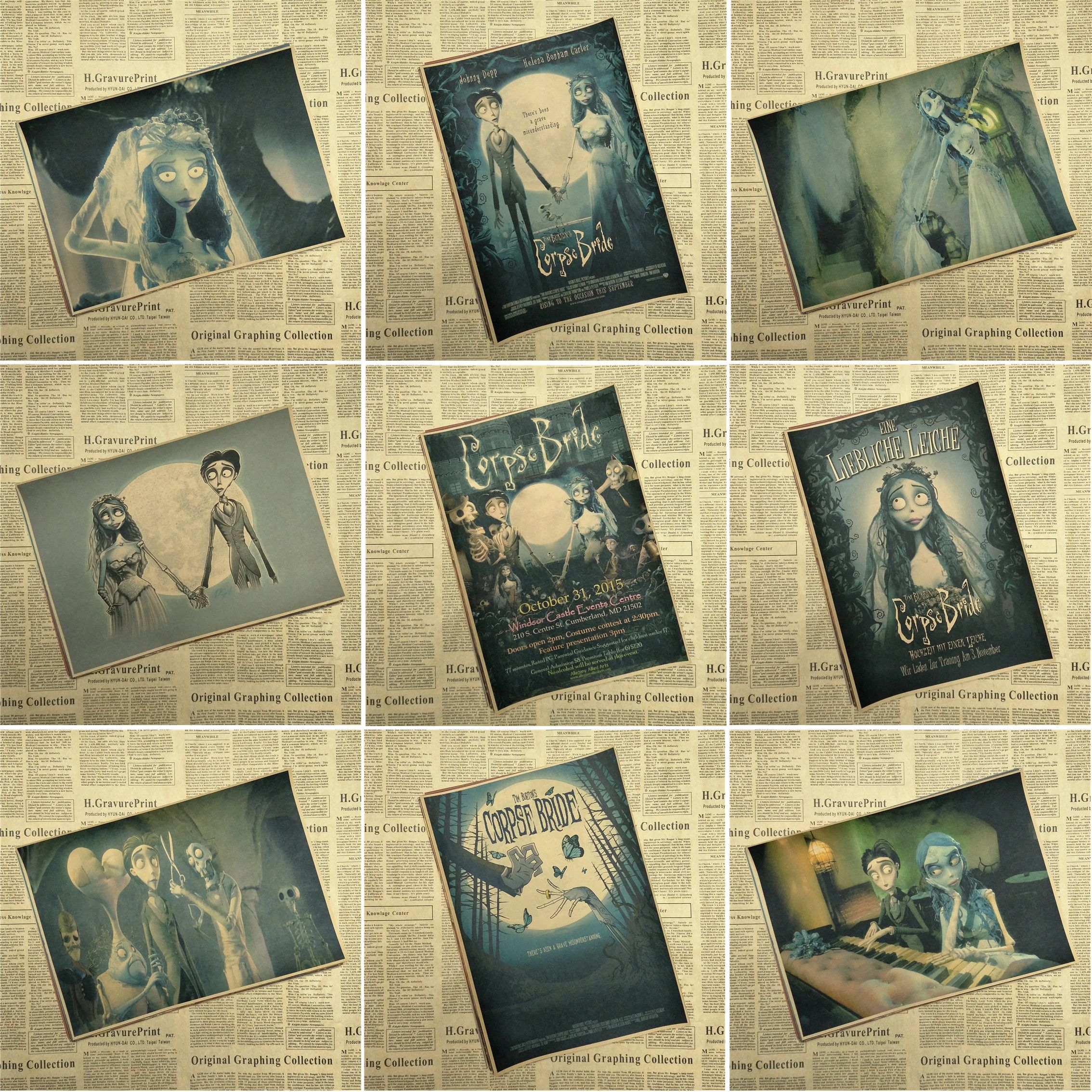 Tim Burton\'s Corpse Bride Tim Burton Furnishing decoration Kraft ...