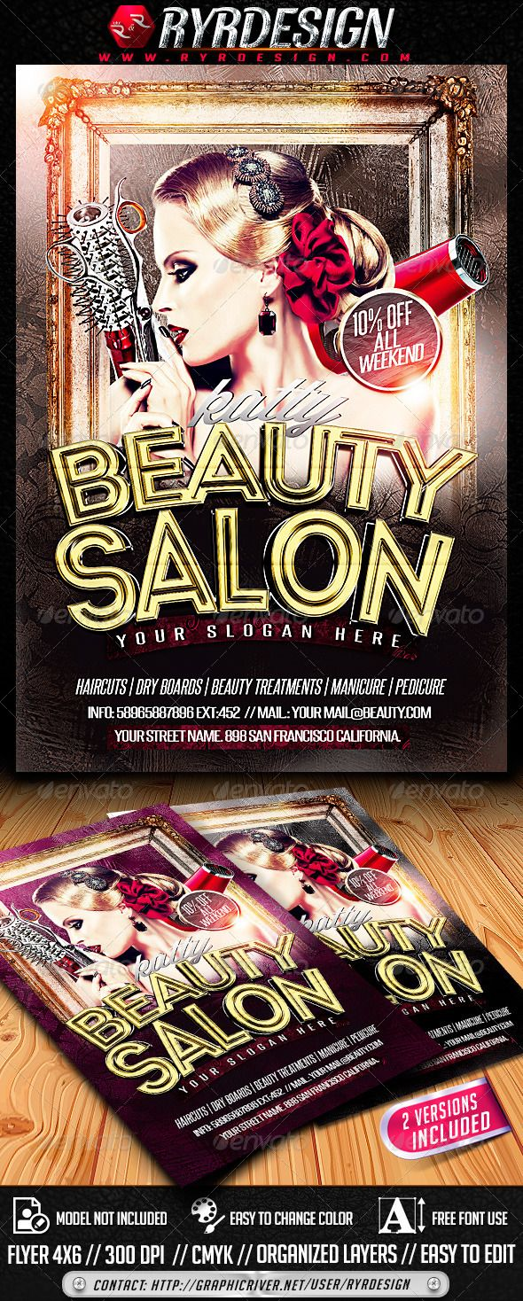 Beauty Salon Flyer Psd  Salons Flyer Template And Template