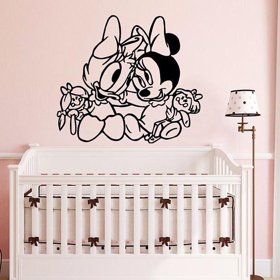Daisy Duck And Minnie Mouse Babies Wall Decal Cartoon Animals