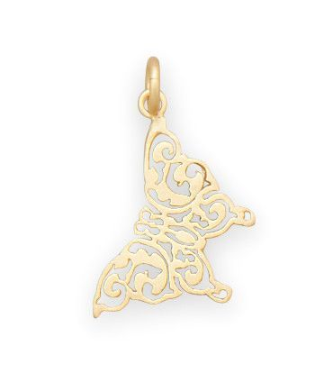 14 Karat Gold Plated Delicate Butterfly Pendant