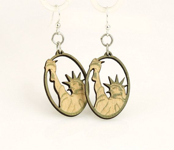 Statue of Liberty  Freedom  New York by GreenTreeJewelry on Etsy, $12.95