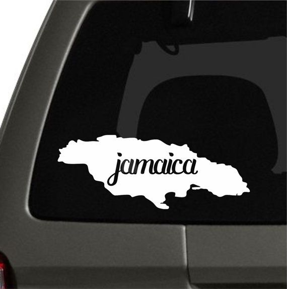 Beautiful jamaica sticker can be placed on car window or be placed as a bumper sticker stand out from the rest approx dimensions are 4 x 4