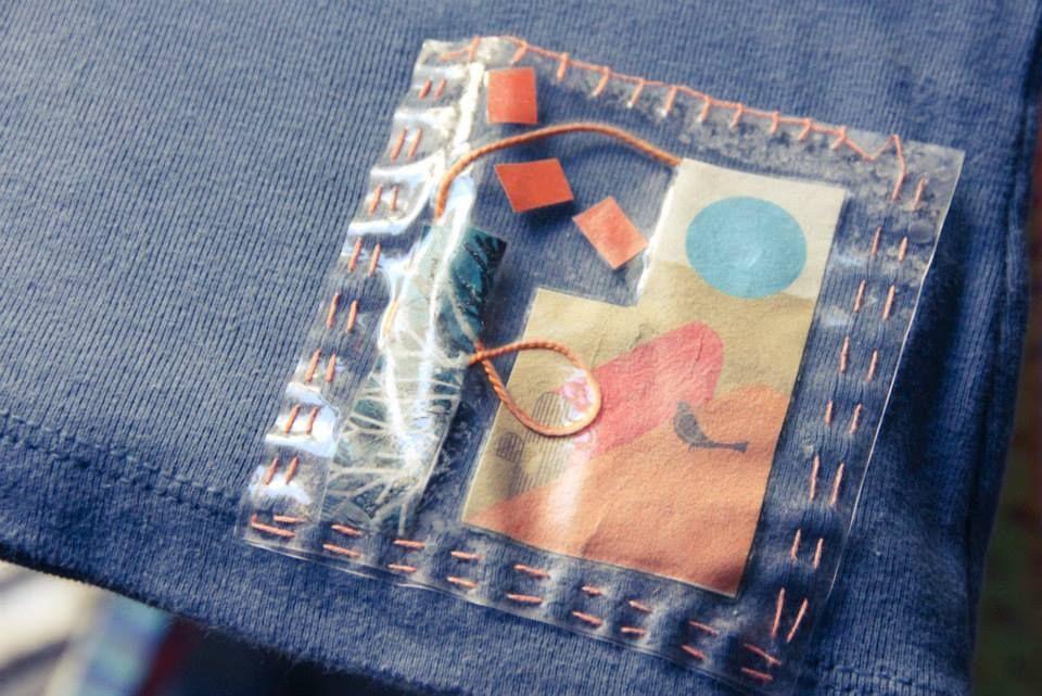 aplicaciones collage en ropa