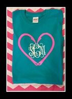 This is a tropical blue tee with hot pink and white design.  It is a front only design.