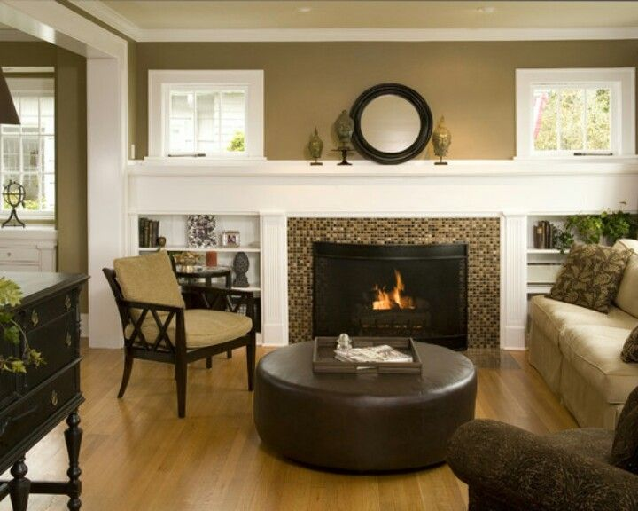 Fireplace And Built Ins Mosaic Surround Could Be Something Different Wide S