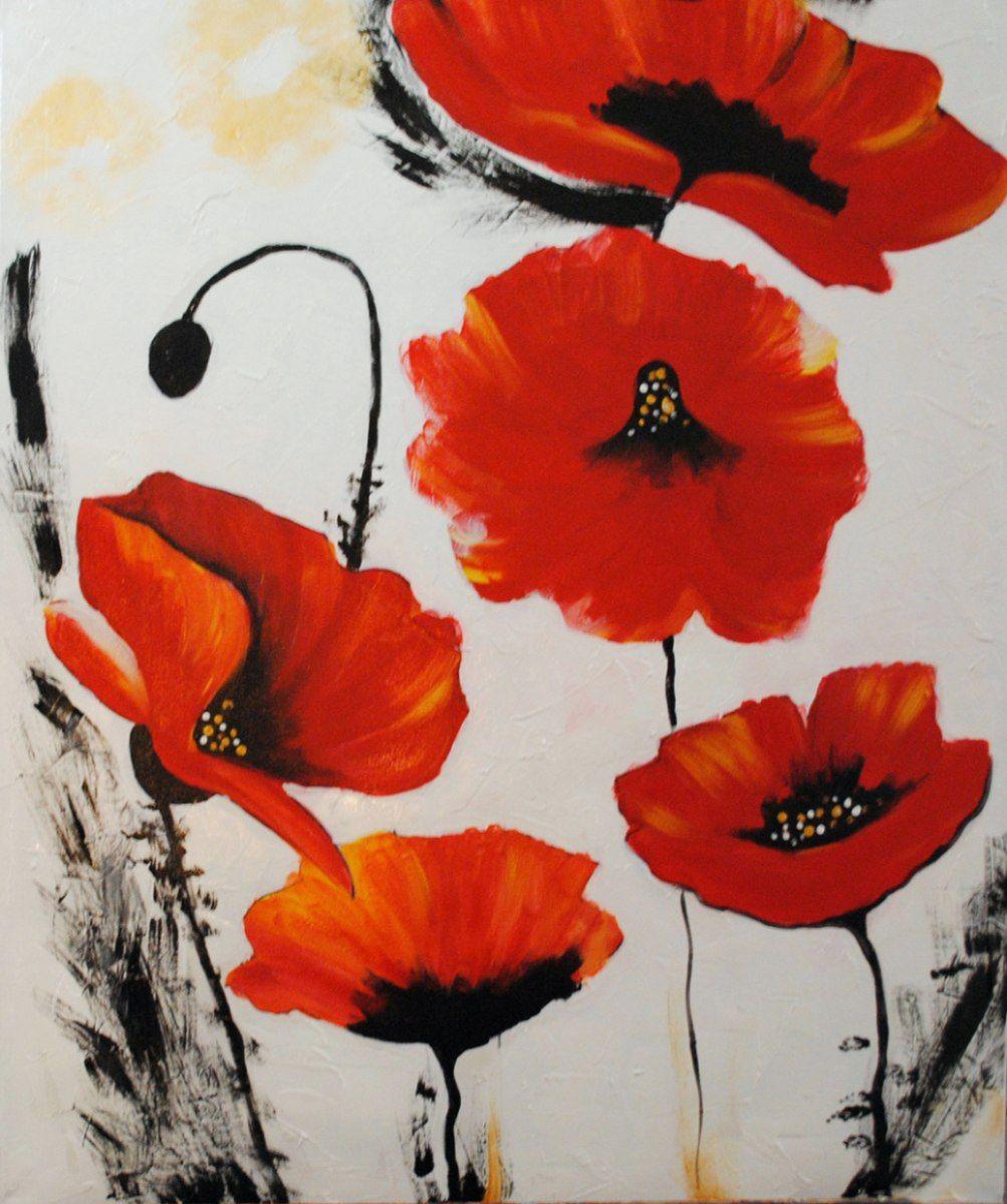 Cuadros flores abstractos tripticos dipticos modernos for Immagini astratte moderne