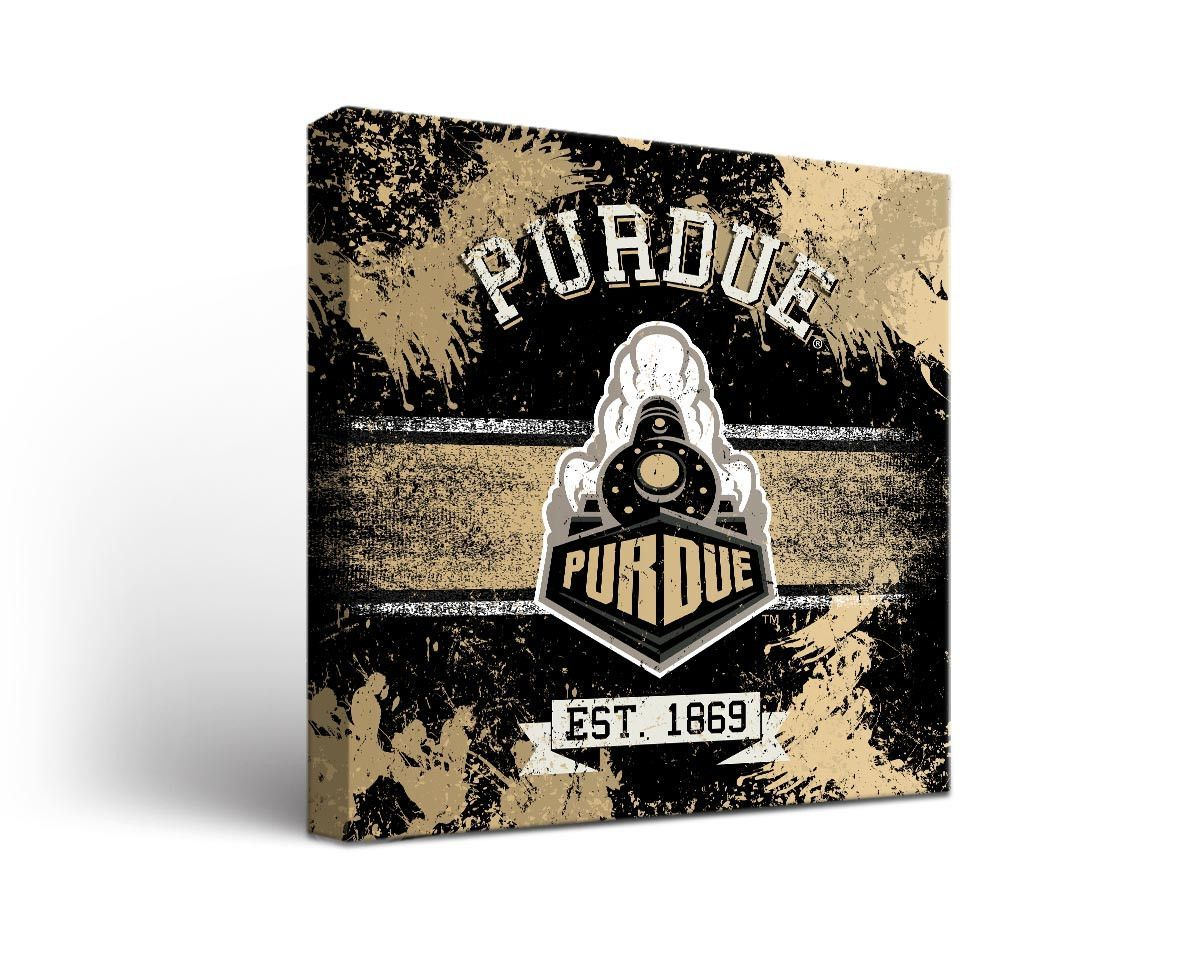Purdue Boilermakers Classic Canvas Wall Art Square Canvas Wall Art Wall Art Purdue