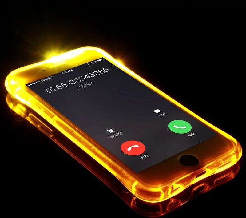 Incoming Call Flash Iphone Case Light Up Phone Case