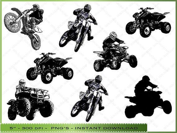 Digital Motorcycle ATV Clipart / ATVs and by DigitalFileShop ...