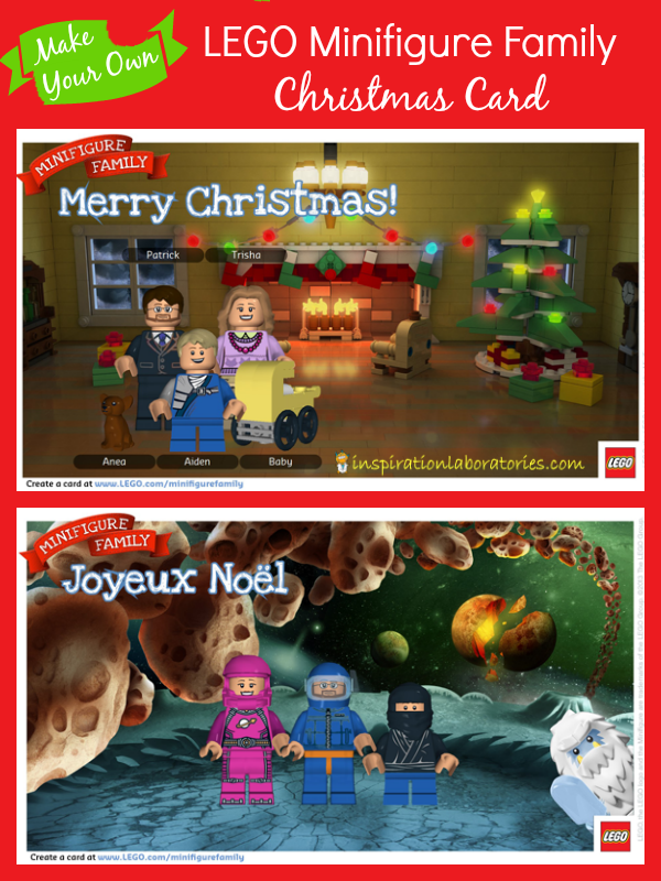 Make Your Own LEGO Minifigure Family Christmas Card | Lego ...
