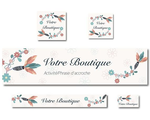 Banners Boho Bohemian Chic Feathers And Flowers