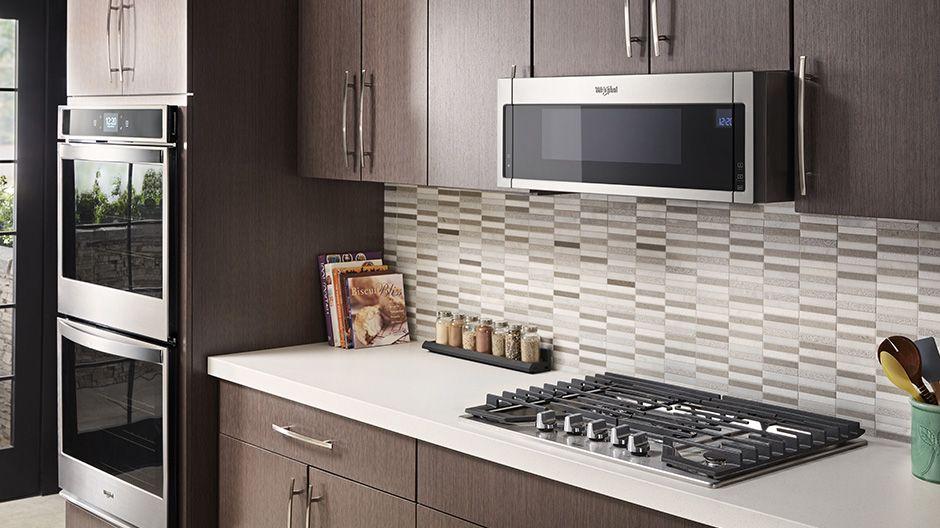 Low Profile Design 2 Electric Cooktop Microwave Hood Kitchen Design