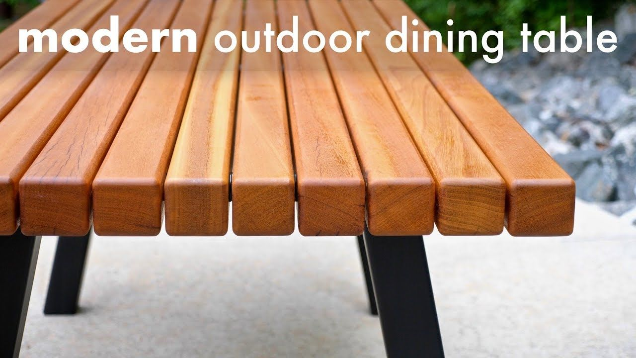 Modern Outdoor Dining Table And Pergola Build How To
