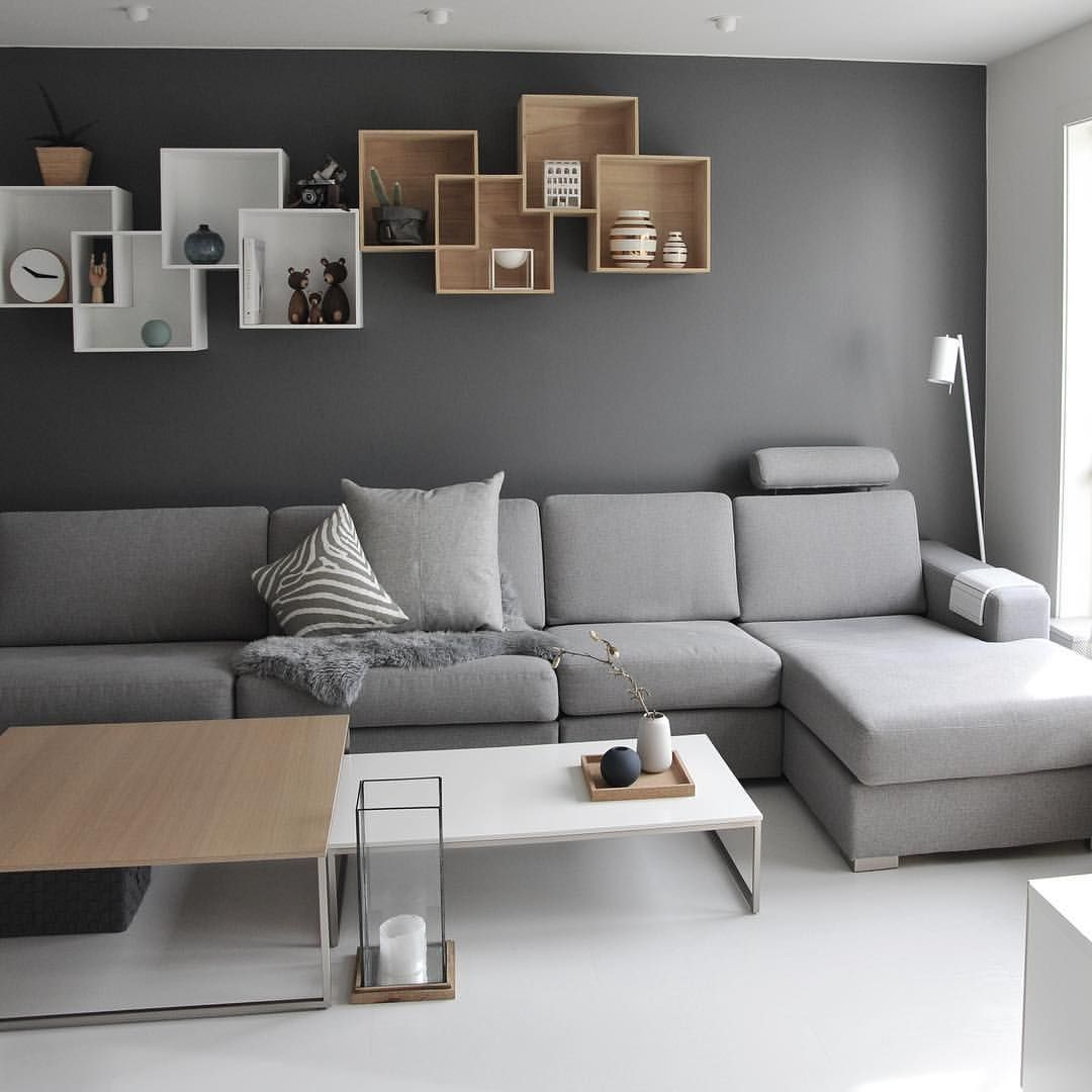 """Hege Jeppedal 🇳🇴 on Instagram """"🔲 Livingroom 🔲   Den store, grå ullputa er ny  Den fant jeg hos @boliacom i Bodø👌🏻 ikkesponset 😜  Har funnet fin plass til den nye lampa…"""" is part of Living room decor grey walls - 9,097 Likes, 60 Comments  Hege Jeppedal 🇳🇴 (@medandreord) on Instagram """"🔲 Livingroom 🔲   Den store, grå ullputa er ny  Den fant jeg hos @boliacom i Bodø👌🏻 ikkesponset 😜…"""""""