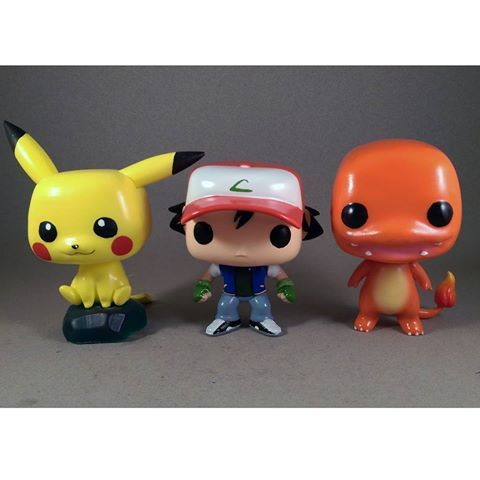 custom pokemon pop ash pikachu charmander charmander and