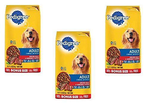 Pedigree Adult Complete Nutrition Grilled Steak Dogfood Dog