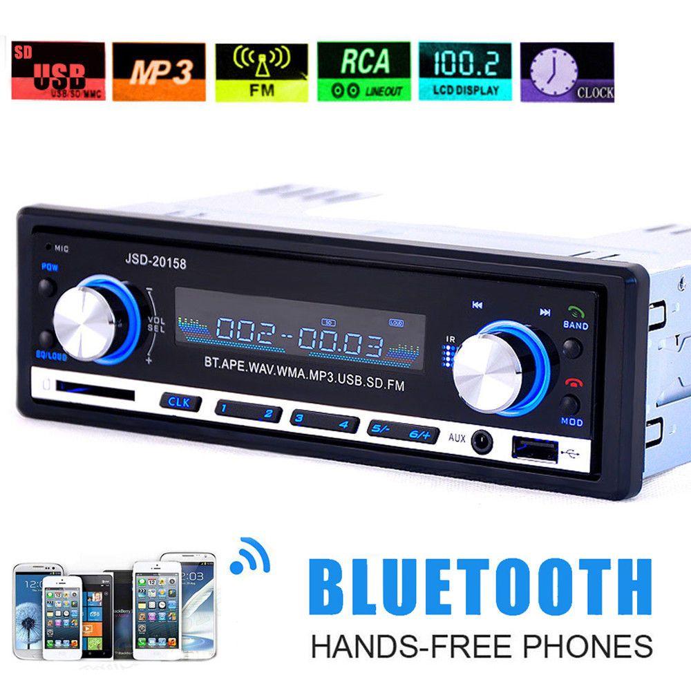 Vintage Car Radio Modern Bluetooth MP3 Player AUX Classic