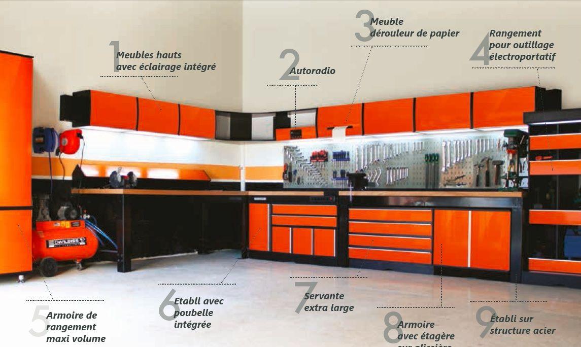 armoires tablis servantes casier a vis un agencement complet trm garage ateliers. Black Bedroom Furniture Sets. Home Design Ideas
