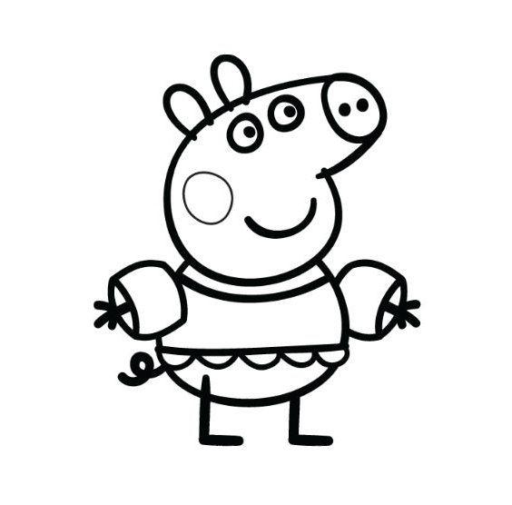 Peppa Pig Va In Vacanza Al Mare E Mette I Braccioli Per Fare Il Bagno Peppa Pig Libri Da Colorare Disegni Da Colorare