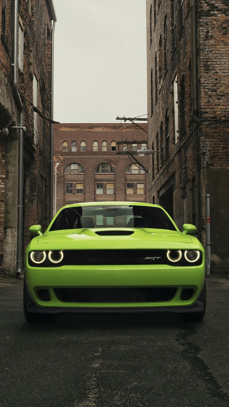Dodge Challenger SRT Hellcat IPhone Wallpaper