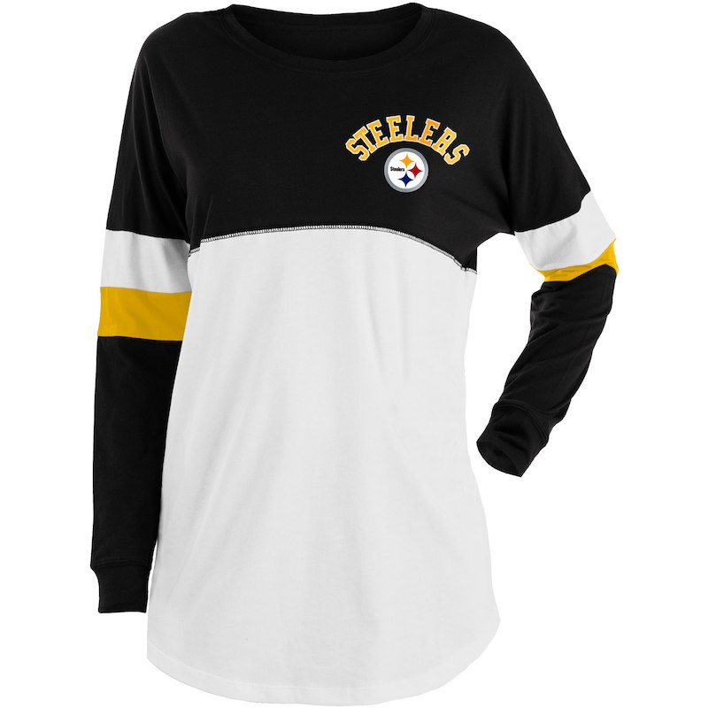 79e417df6 Pittsburgh Steelers New Era Women s Varsity Athletic Long Sleeve T-Shirt –  Black